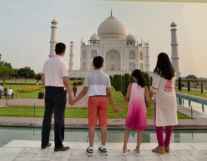 Kavita and family traveling