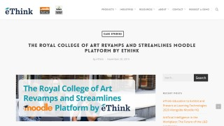 eThink Case Study - Royal College of Art