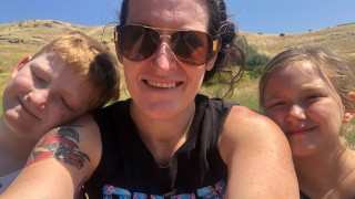 Working Moms - Kimberly and kids
