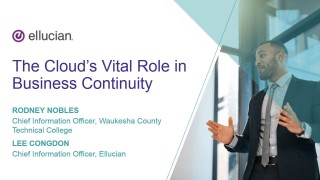 Cloud Discovery Series - The cloud's vital role in business continuity