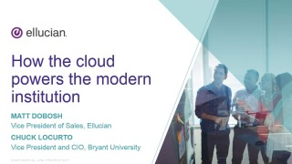 Cloud Discovery Series - How the cloud powers the modern institution