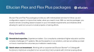 Ellucian Flex and Flex Plus Packages
