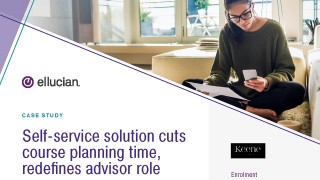 Self-service solution cuts course planning time, redefines advisor role