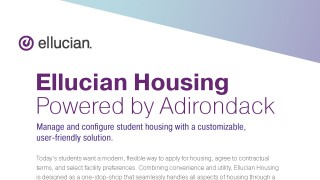 Ellucian Housing Powered by Adirondack